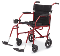 Wide Seat Transport Chair
