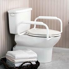 Toilet safety rails, no legs